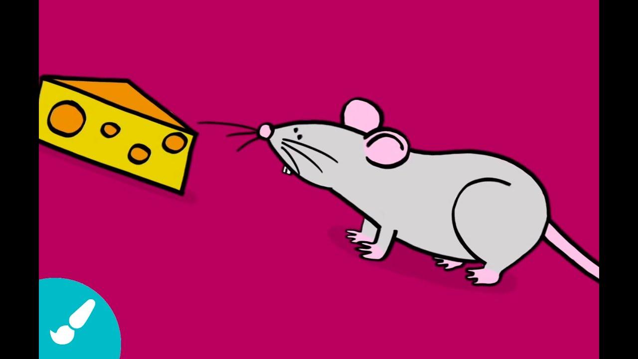 dibujos de animales para niños cómo dibujar un ratón youtube