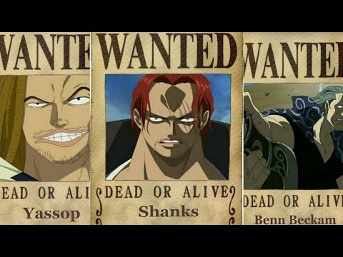 One piece: Shanks crew bounties - chapter 903+ Prediction ...  One