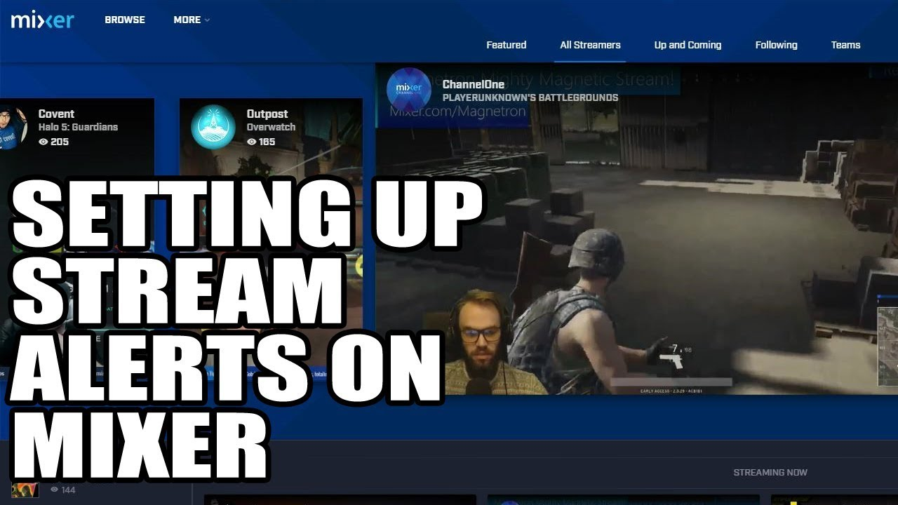 Setting Up Stream Alerts On Mixer (Tutorial EP 6)