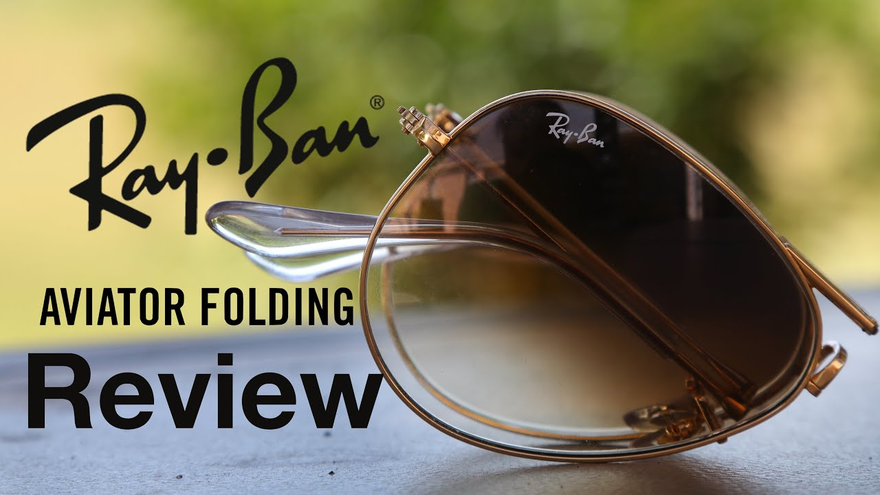 a1ccb21891c Ray-Ban Folding Aviator Review - YouTube