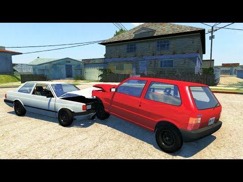 BEAMNG DRIVE COM MAPA DO GTA SAN ANDREAS E CARROS BRASILEIROS