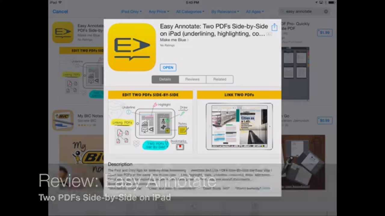 How To View And Annotate 2 Pdf Files Side By Side With Easy Annotate For  Ipad
