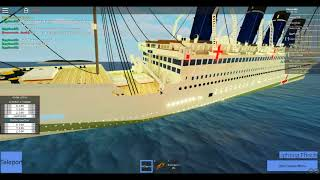 The sinking of the black Titan (part 1) Roblox Tiny-ships