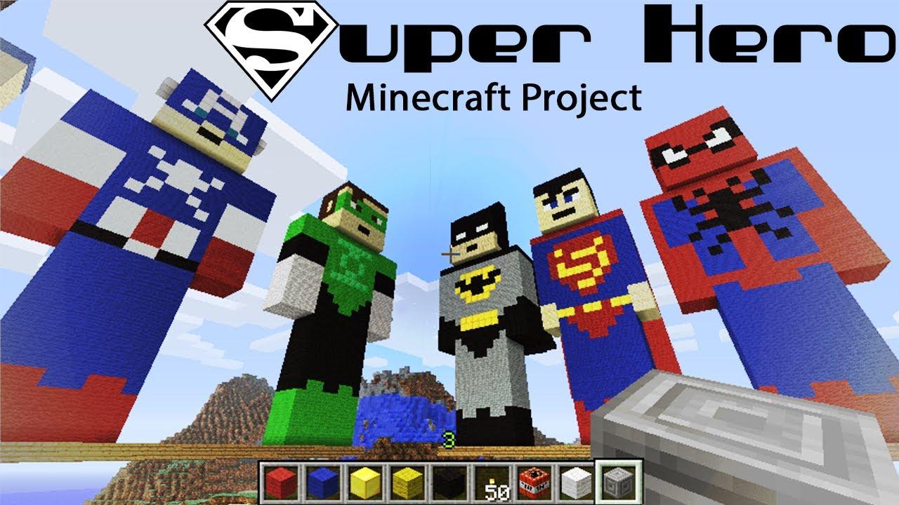 minecraft superhero hall of