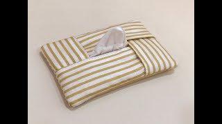 清秀佳人布坊 - 手作教學 - 十字交叉袖珍面紙袋