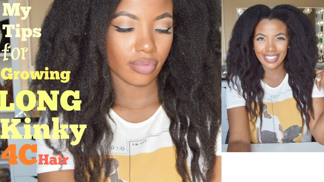 My Tips For Growing Long 4c Kinky Natural Hair Waist Length