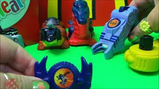 2003 Mcdonalds Happy Meal DRAGON BOOSTER SET - COMPLETE SURPRISE OPENING