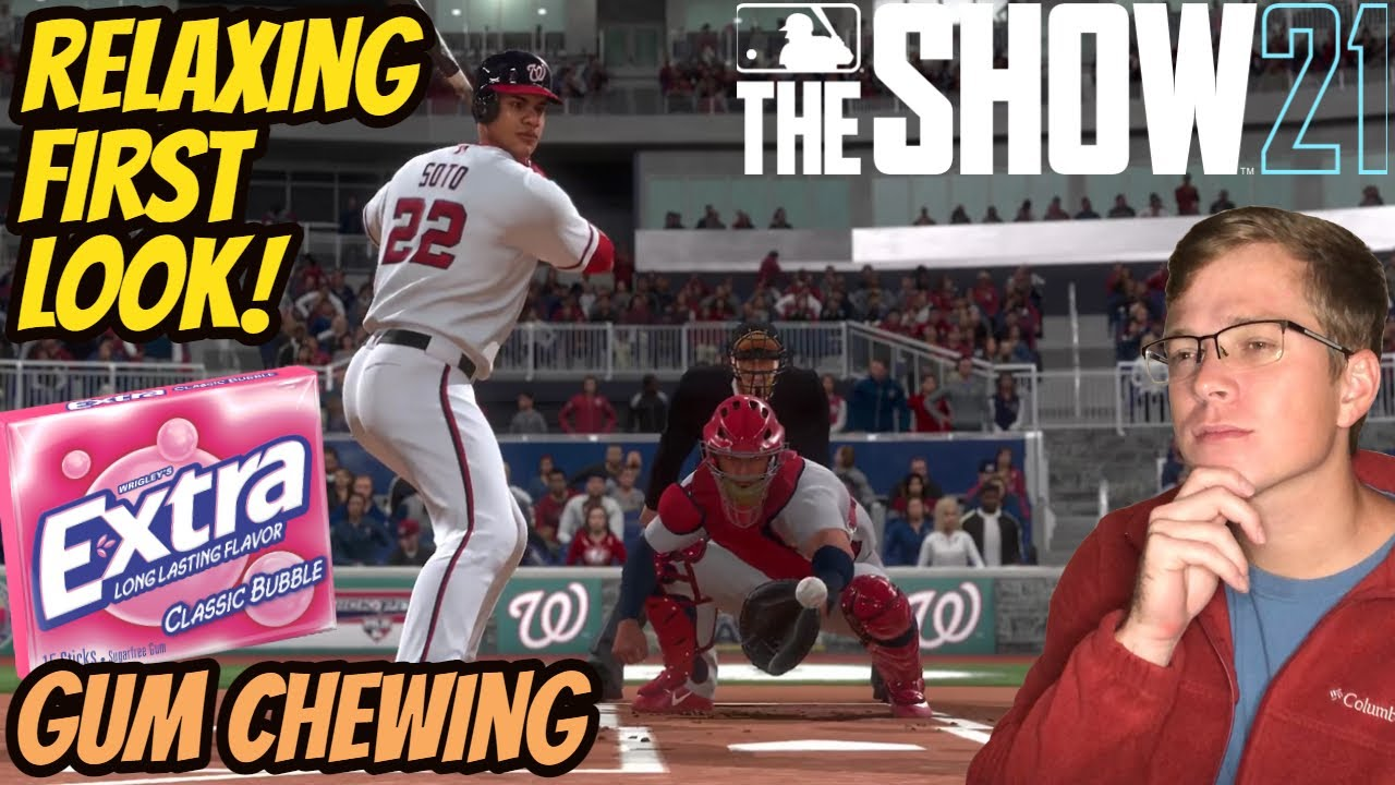 ASMR Gaming: MLB The Show 21 | Relaxing First Look! - Gum Chewing & Whispering