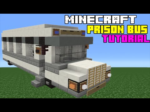 Minecraft Tutorial: How To Make A Prison Transport Bus