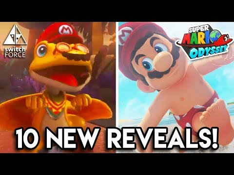 Top 10 New Reveals! - Super Mario Odyssey New Trailer Analysis