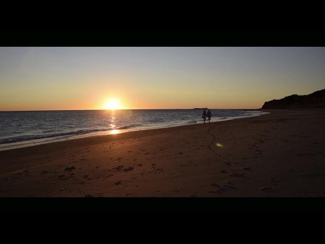 Puesta de sol en la playa de La Barrosa (Chiclana)