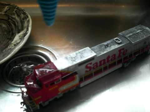 How to clean dirty model trains.