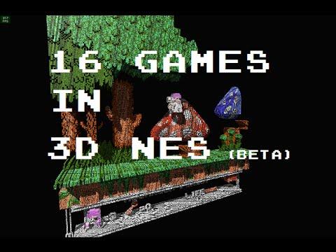 16 NES games in 3D NES Beta