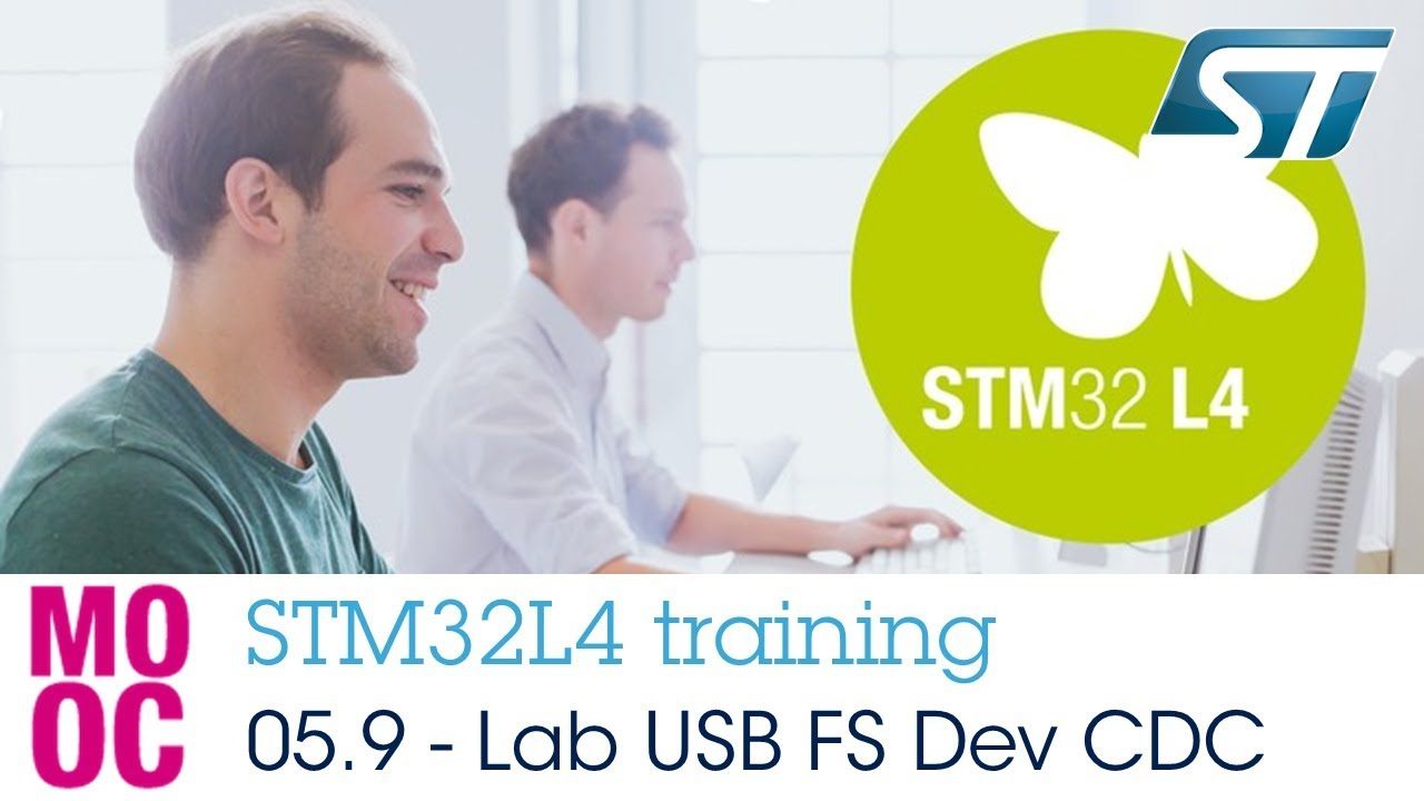 STM32L4 training: 05 9 Communication peripherals - Hands-on USB FS  Communication Device Class (CDC)