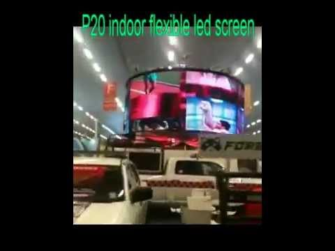 P20 circle LED display, flex curtain, transparent outdoor advertisement screen