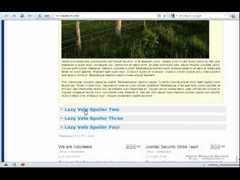 Спойлер в Joomla! Скрыть/показать контент