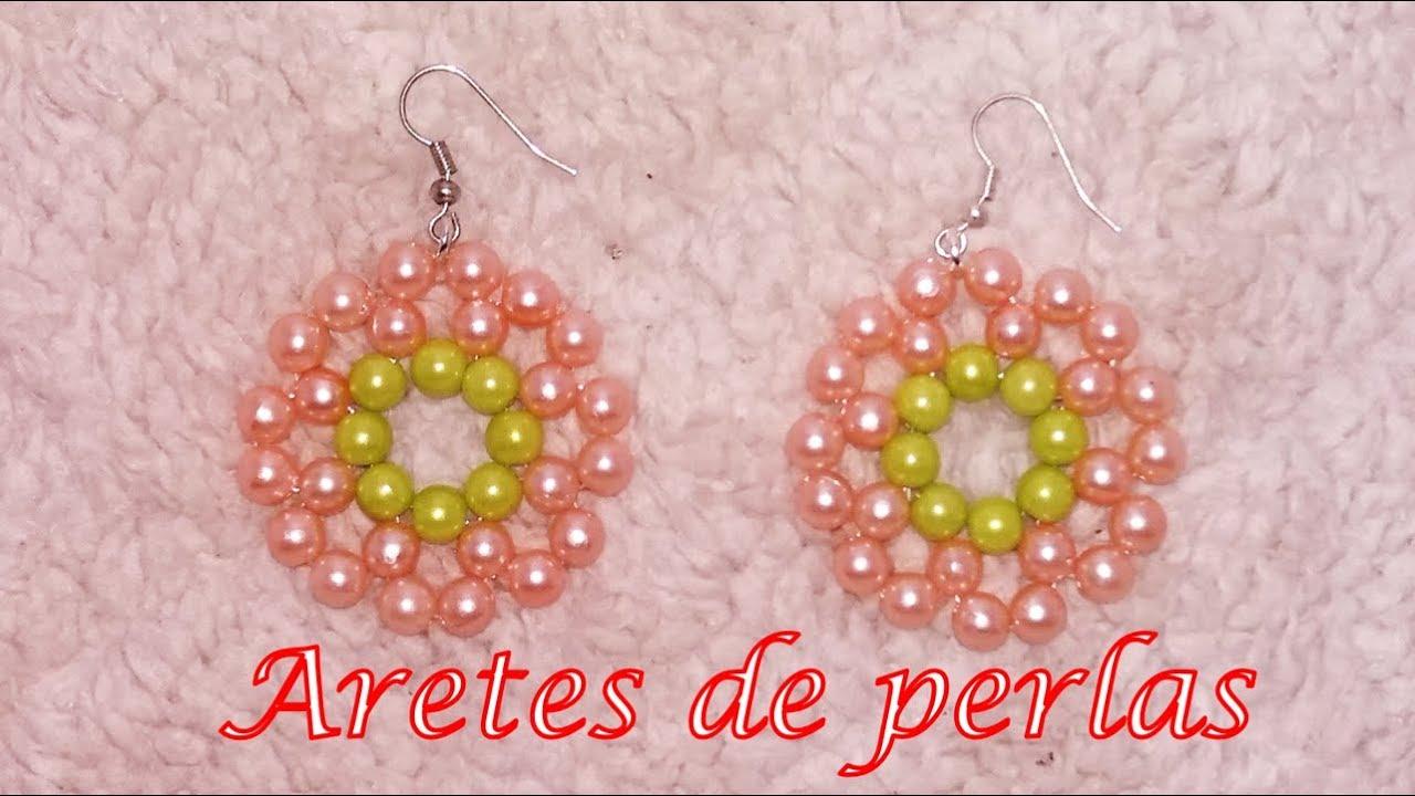 6c1a1c396 Aretes círculo con perlas - Bisutería Fina (Tutorial paso a paso ...