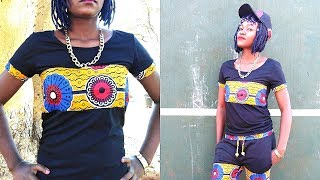 Download Video How to sew T-Sirt with African Print-Ankara style 2018 MP3 3GP MP4