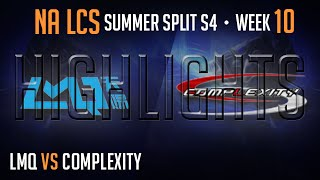 LCS Highlights LMQ vs Complexity Week 10 Day 1 NA Summer 2014 LMQ vs COL S4 W10D1G1 Season 4