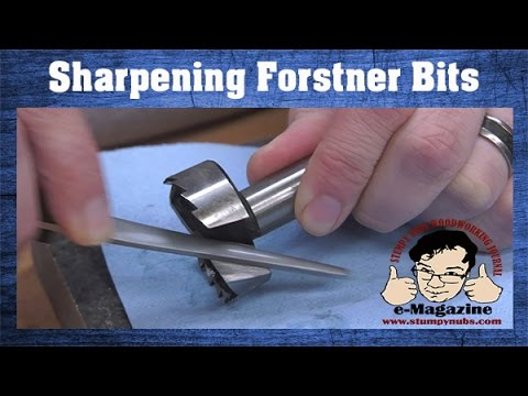 Fast & Easy Forstner Bit Sharpening!