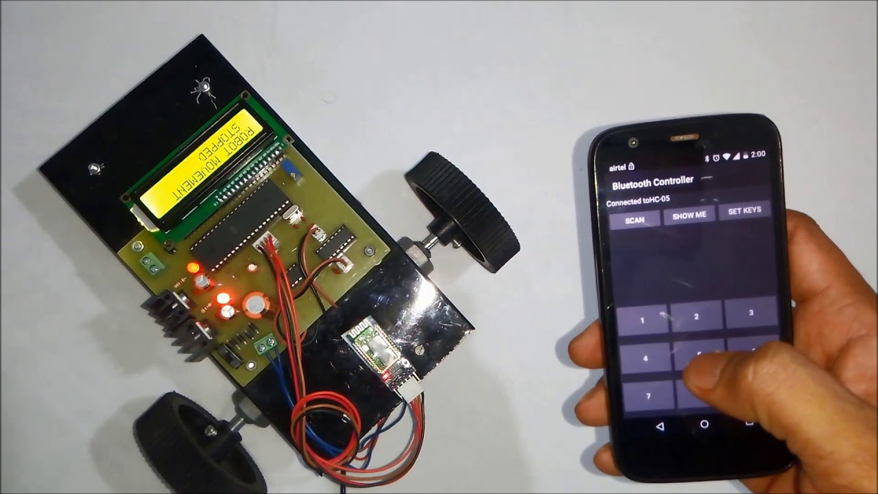 Bluetooth controlled robot using Android Application