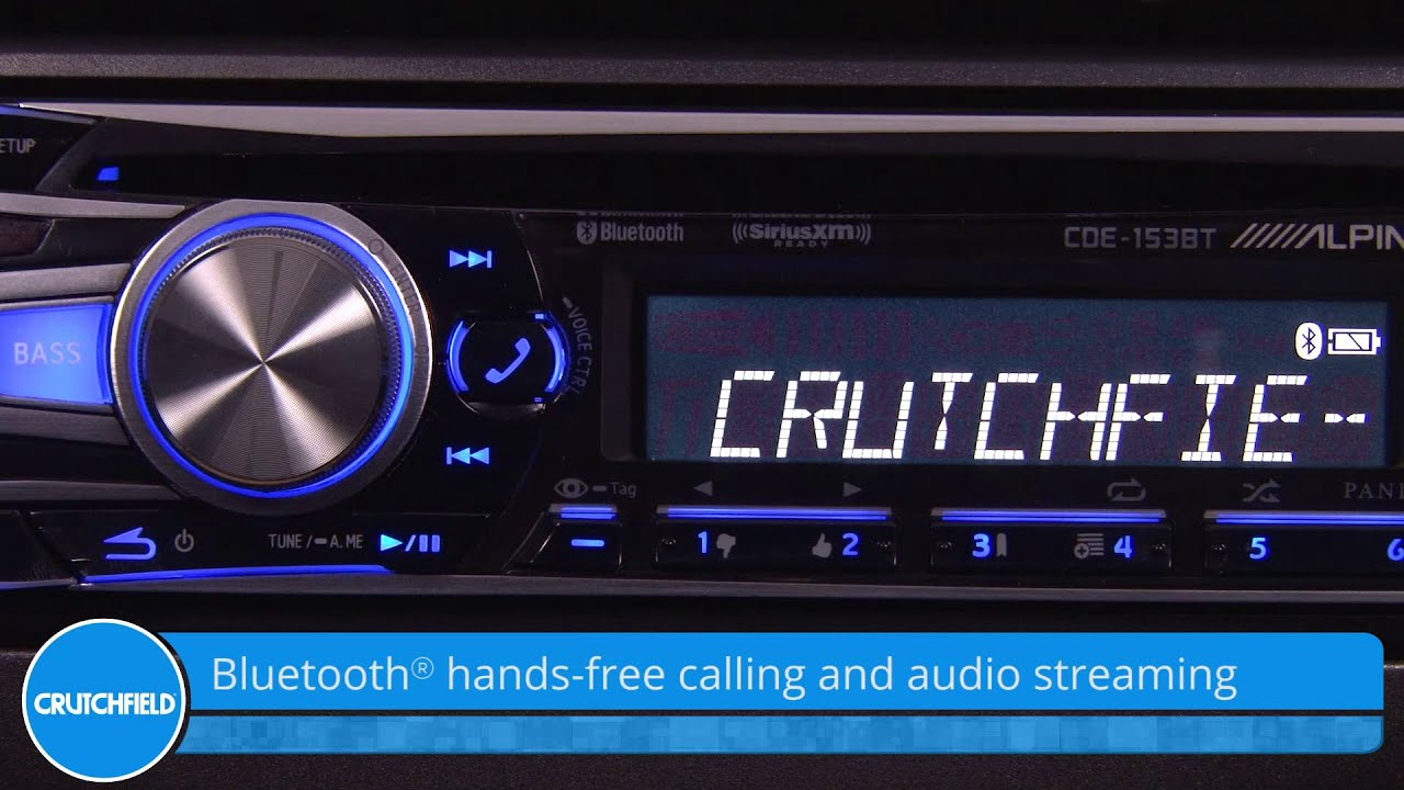 Alpine cde 153bt display and controls demo crutchfield video alpine cde 153bt display and controls demo crutchfield video youtube sciox Images