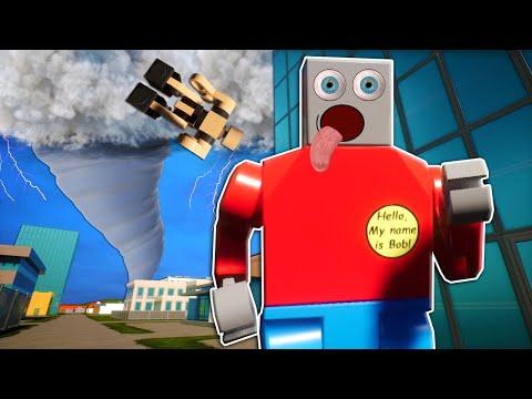 Massive Tornadoes & Tsunami Destroys My Lego Mansion! (Brick Rigs Gameplay)  