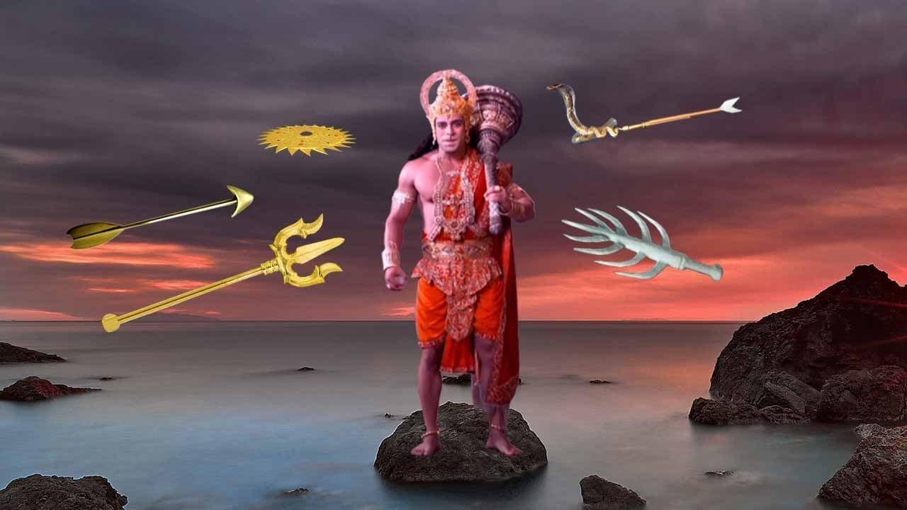 Download हनुमान जी का सुदर्शन पाशुपतास्त्र ब्रह्मास्त्र नागपाश वज्र यमपाश से युद्ध | Hanuman Vs All Astra