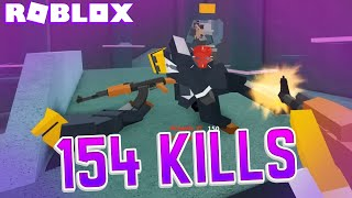 154 kills in one game... (NEW Roblox Bad Business Gameplay)