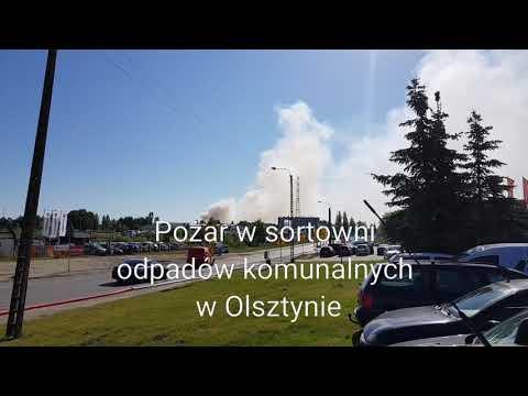 Pożar W Sortowni Odpadów Komunalnych W Olsztynie