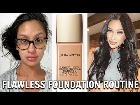 Perfect Skin? 😱  New Laura Mercier Flawless Lumière Radiance Foundation   REVIEW DEMO