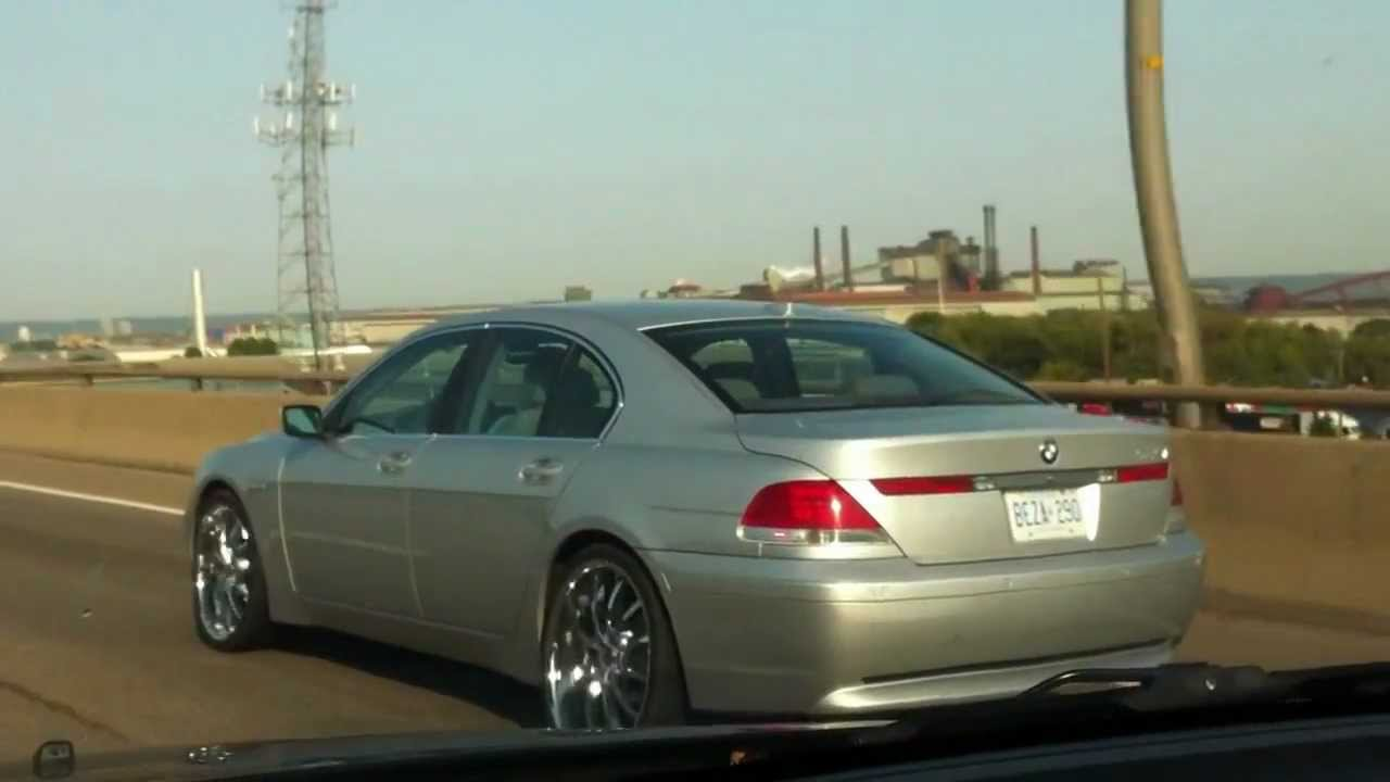 Bmw 7 Series Rolling On 22 Quot Staggered Full Chrome Hillyard Custom Rim Mov Youtube