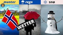 Norwegisch lernen für Anfänger | Lektion Wetter und Klima  | Vokabeln A1 🇳🇴 ✔️