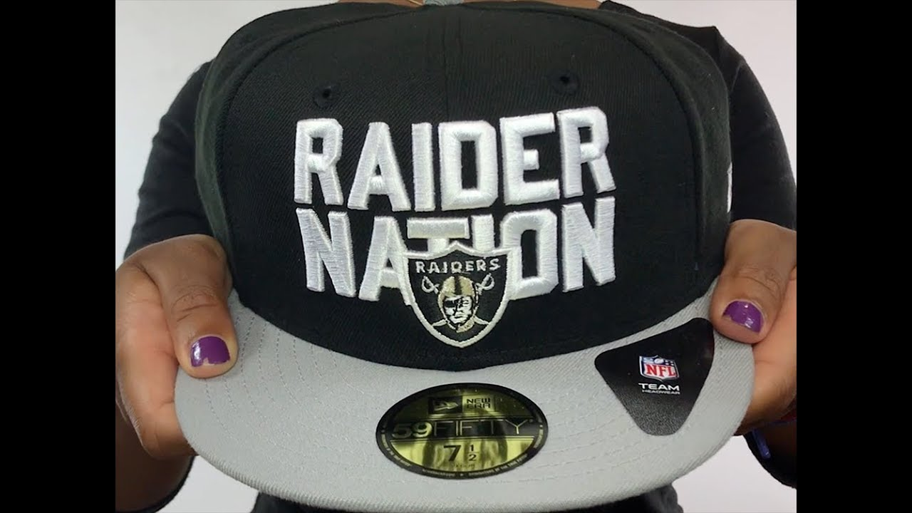 97a21d8d Oakland Raiders RAIDER-NATION Black-Grey Fitted Hat by New Era