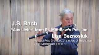 """И.С. Бах, """"Страсти по Матфею."""" Мастер класс Лизы Безносюк, барочная флейта"""