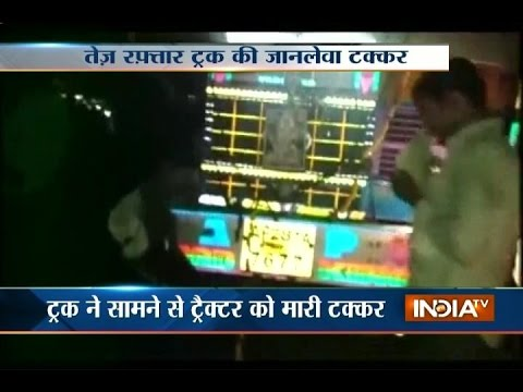 Truck collides with tractor in Hydrabad, 5 killed