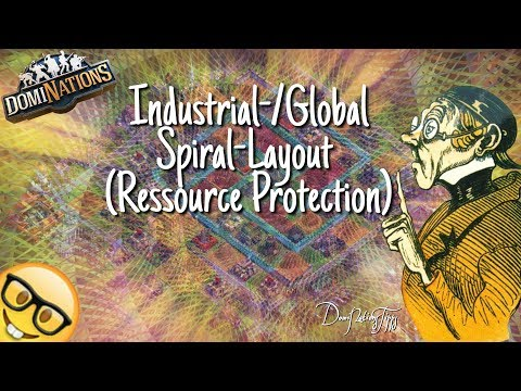 #540. DomiNations 7. Base Layout Industrial/Global Age (Spiral-Layout / Ressource Protection)