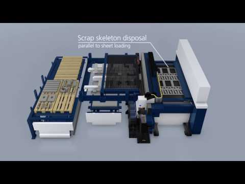 TRUMPF Laser cutting: TruLaser Center 7030 - This is how the full service laser machine works
