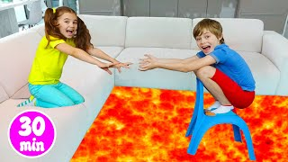 Floor is lava and the Collection of new Stories for kids / Nick and Poli
