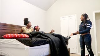 CAUGHT IN THE BED WITH YOUR FRIEND PRANK!! **GONE WRONG**