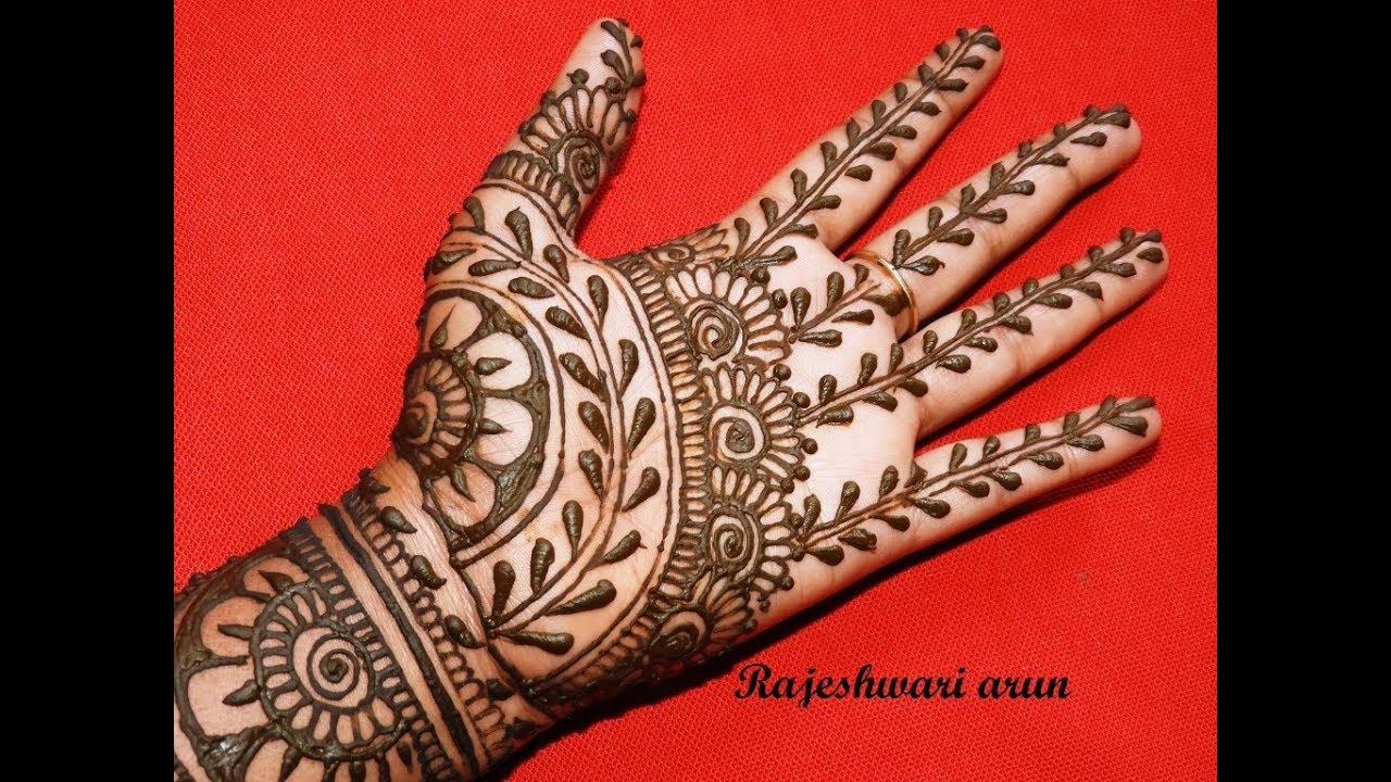 Simple Latest Mehndi Designs For Full Hands * Easy New Mehndi For Brides  step by stepforBeginner