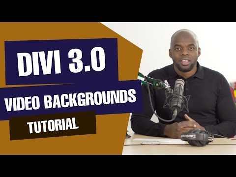 Divi tutorial - How to add a video background using Divi 3.0 - 동영상