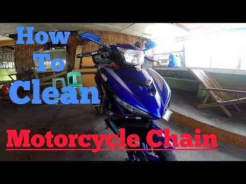 YAMAHA SNIPER 150   How to Clean Motorcycle Chain