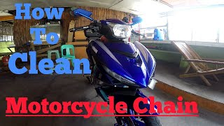 YAMAHA SNIPER 150 | How to Clean Motorcycle Chain