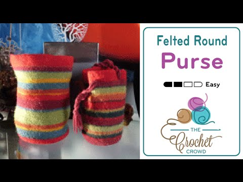 How To Crochet A Round Purse Youtube