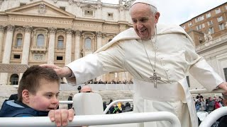 12-Year-Old Boy With Down Syndrome Gets Kiss From Pope After Battling Cancer