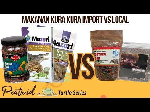 Perbandingan Makanan Kura Kura Darat Lokal VS Import - Repcal, Mazuri, Meizu, GT Freek Review