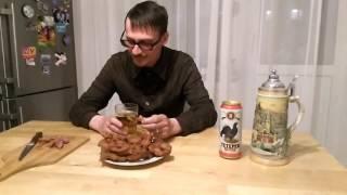 Копчёные свиные пятачки - закуска под пиво.