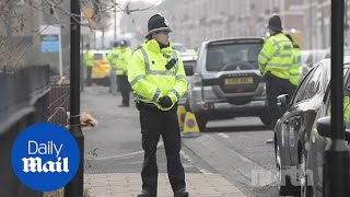 Police tape off areas of Newcastle amid terrorism arrest
