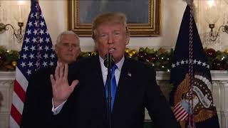 خطاب إعلان  ترامب الاعتراف بالقدس عاصمة لإسرائيل
